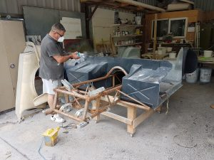 Fibreglass bodywork moulding