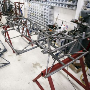 Complete chassis ready for powder coating